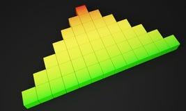 Aumenti la foto di colore 3d Immagine Stock