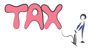 Aumenti la tassa Immagini Stock