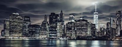 Aumenti scuri di notte Fotografie Stock