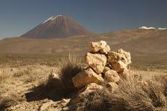 Aumento al vulcano attivo Misti fotografia stock