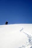 Aumento, all'alpinista Fotografia Stock