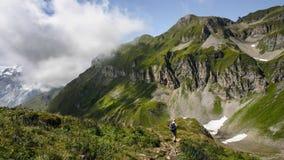 Aumento in alpi svizzere - Reuti, Hasliberg di estate Fotografia Stock Libera da Diritti