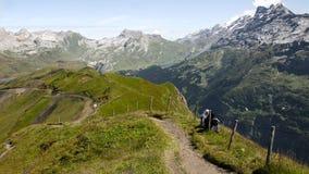 Aumento in alpi svizzere - Reuti, Hasliberg di estate Immagine Stock Libera da Diritti