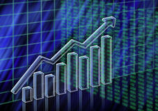 Aumento conservado em estoque do valor ilustração stock