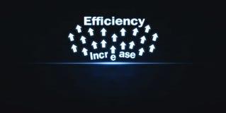Aumento da eficiência Desenvolvimento e crescimento Conceito do negócio imagens de stock