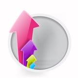 Aumento de flechas del color Imágenes de archivo libres de regalías
