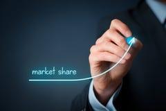 Aumento de la cuota de mercado Foto de archivo