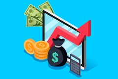 Aumento de la inversión del concepto de renta stock de ilustración