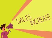 Aumento de las ventas de la escritura del texto de la escritura El significado del concepto crece su negocio encontrando maneras  stock de ilustración