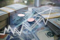 Aumento de los beneficios del negocio y de las finanzas de alta calidad fotografía de archivo libre de regalías