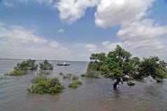 Aumento de los niveles del mar Imagen de archivo libre de regalías