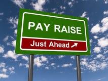 Aumento de pagamento apenas adiante fotografia de stock