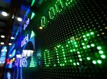 Aumento de precios del mercado de acción Imagen de archivo libre de regalías