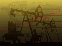 Aumento dei prezzi dell'olio Fotografia Stock Libera da Diritti