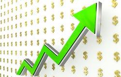 Aumento del dollaro Fotografia Stock Libera da Diritti