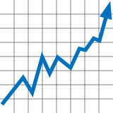 Aumento del grafico Fotografie Stock