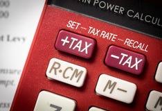 Aumento del impuesto Fotos de archivo libres de regalías