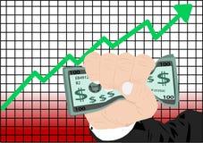 Aumento del mercato azionario Immagini Stock