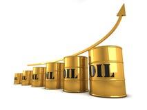 Aumento del precio del petróleo Fotografía de archivo libre de regalías