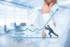Aumento del reddito fotografia stock