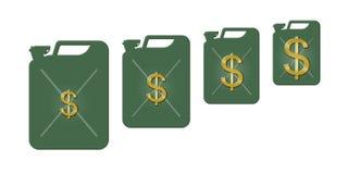 Aumento del precio de la gasolina Foto de archivo libre de regalías