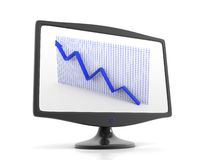 Aumento della freccia nella visualizzazione del video Immagine Stock