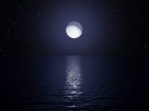 Aumento della luna Fotografia Stock Libera da Diritti