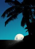 Aumento della luna blu Immagini Stock
