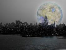 Aumento della luna di NYC royalty illustrazione gratis