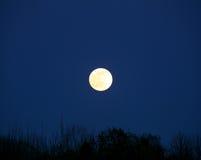 Aumento della luna piena Fotografie Stock Libere da Diritti