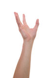 Aumento della mano ed afferrare per altre mani Immagine Stock Libera da Diritti