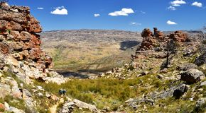 Aumento della montagna di Cedarberg Fotografia Stock