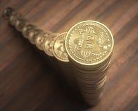 Aumento della pila di Cryptocurrency Immagini Stock