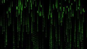 Aumento delle particelle del fondo di Internet della matrice di codice binario Immagini Stock Libere da Diritti