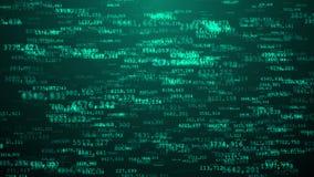 Aumento delle particelle del fondo di Internet di numeri casuali Immagine Stock Libera da Diritti