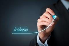 Aumento di dividendi fotografia stock