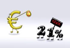 Aumento di imposta in Spagna. Fotografia Stock