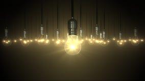 Aumento di incandescenza dell'oscillazione della lampadina, Fotografia Stock