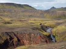 Aumento di Laugavegur in Islanda. Immagini Stock Libere da Diritti