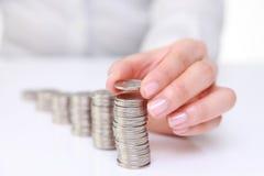 Aumento di reddito Fotografia Stock