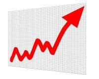 Aumento di successo del grafico del diagramma Fotografia Stock Libera da Diritti