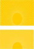 Aumento di Sun Immagine Stock