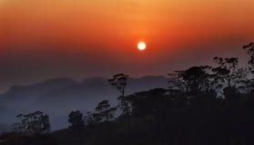 Aumento di Sun Fotografia Stock Libera da Diritti