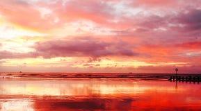 Aumento di Sun della spiaggia di Aberdeen Immagini Stock