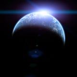 Aumento di Sun nello spazio illustrazione vettoriale