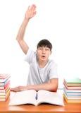 Aumento do estudante sua mão Imagens de Stock Royalty Free