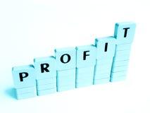 Aumento do lucro imagem de stock