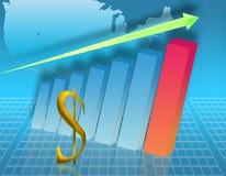 Aumento in dollaro (03) Fotografia Stock Libera da Diritti
