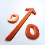 Aumento dos por cento de Repid Imagens de Stock
