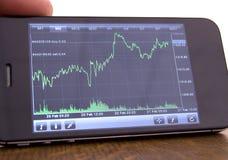 Aumento e caduta del mercato azionario Immagine Stock Libera da Diritti